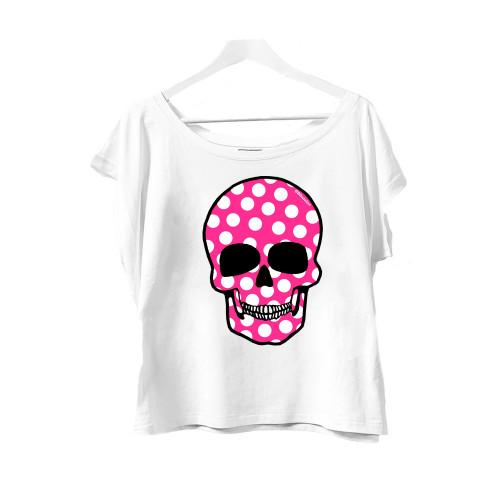 Camiseta Estella Flies Calavera Fucsia